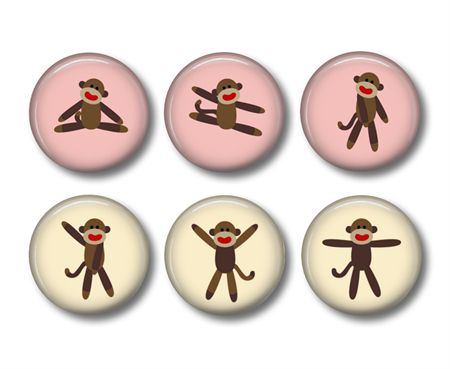 Fridge magnet - Monkey 3 - set of 6 fridge magnets