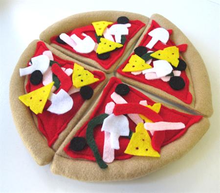 Felt Play Food Pizza, Pretend Play