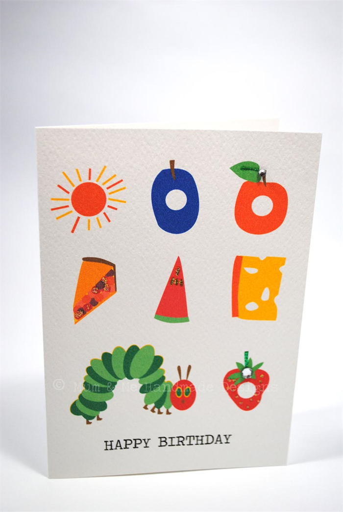 Happy Birthday Card Boy or Girl The Very Hungry Caterpillar – Hungry Caterpillar Birthday Card