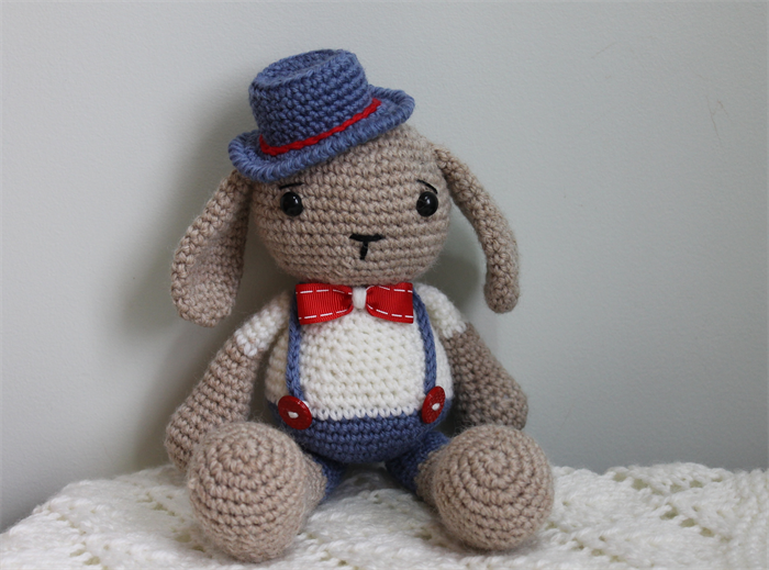 Toy Bunny Hand Crocheted Amigurumi Soft Toy Nursery Decor ...
