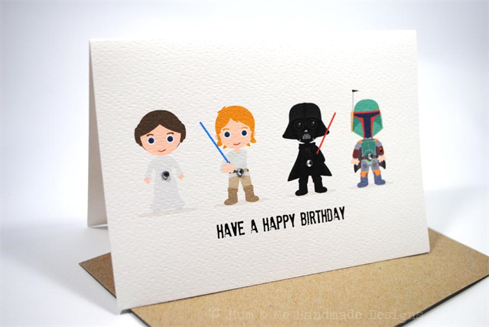 Star Wars Birthday Greeting Free ~ Starwars birthday card image collections birthday cards ideas