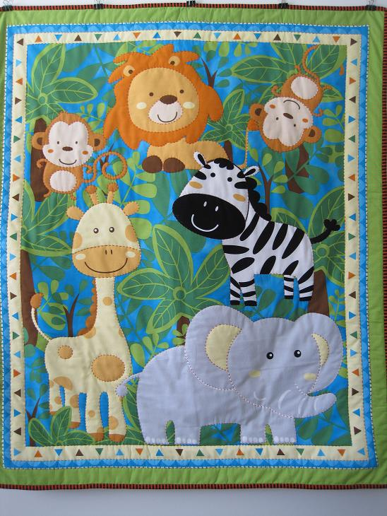 Homemade Quilts For Sale >> Jungle Animals Baby Quilt | forlittlelads.com on Madeit