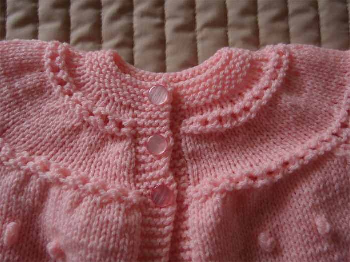 2cb2dbca9304 Size 6-12 mths Hand knitted baby jacket or cardigan in light peachy ...