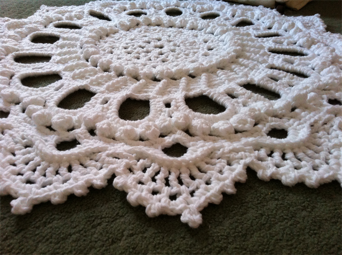 Unique Crochet Doily Rug Splendid Handmade Statement Piece