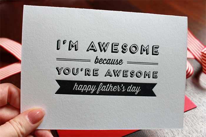 Letterpress Fathers Day Card