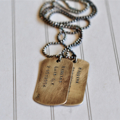 Dog Tag Necklace Sterling Silver Jewellery Men Boys Dads