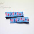 Woven ribbon hair clips