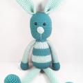 Turquoise Bunny Rabbit Crochet Soft Toy
