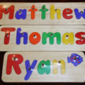Personalised Children's Name Puzzles - Made to Order - You pick the name!