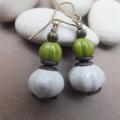 Ceramic Lime Green Earrings