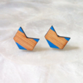 LAST PAIR! Santorini Chevron Arrow Bamboo Earrings Studs
