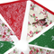 Christmas Red / Green - Bird & berries Bunting . So sweet!