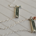 Bar Necklace Fearless Sterling Silver Birthstone Jewellery Word Necklace
