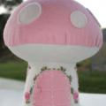 Handmade Mushroom House - Pink  or Red