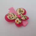 Felt Butterfly Hair Clip- Deep Pink **Free Postage**