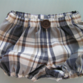 Size 1-3 months - boys bloomers, gift, brown, navy, 
