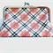 Pink Plaid Frame Purse
