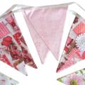 Holly Hobbie Vintage & Floral Pink Flag Bunting * Girls Pennant Decoration