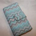Blue Multi chrevon phone wallet
