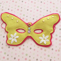 Butterfly Dress Up Felt Mask, Pink and Yellow