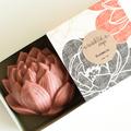 Rose & Chamomile Lotus Soap - Natural, Handmade, Cold Processed, Vegan.