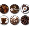Magnets  - Coffee - set of 6 fridge magnets