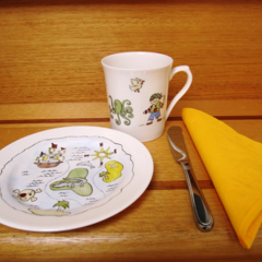 Pirates for a little boy! plate and mug