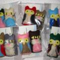 Owl & Pussycat finger puppets