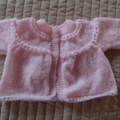 Size 0-6 months Baby Jacket/Cardigan in pink