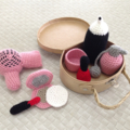 Li'l Pinups Crochet hair and makeup set pretend play toys