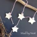 Clay Tags - mini stars - set of 4