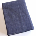Pleated Denim with Front Pocket Re usable A6 Visual Journal Slip Cover