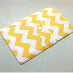 Nappy Wallet & Change Mat - Yellow Chevron with Polka Dots. FREE POSTAGE
