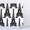 Fabric Greeting Card - Eiffel Tower