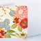 Fabric Greeting Card - cream floral