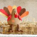 Turkey Softie Pattern PDF Sewing Pattern for Stuffed Animal Turkey Soft Toy