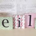 5 Letter Name Word Block Set
