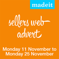 Madeit Seller Advertising Spot: 14 days Monday 11 November - Monday 25 November