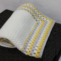 Crocheted Merino Wool Baby Blanket  Cot Pram Car Nursery Ready to Ship