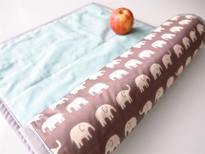 Portable Baby Change Mat Grey Elephant Waterproof Nylon