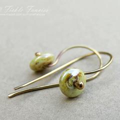 Simply Hooked Earthen Green Earrings