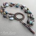 Copper and Jasper Woven Multi-strand Bracelet