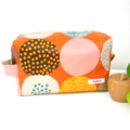 Laminated Nappy Pouch / Bag - *Beignet* Orange