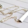 Offspring Nina Proudman Style Jewellery Bar Necklace Plain with Birthstone