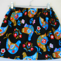 birds scandanavian black skirt size 1,2,3,4,5