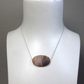Simplicity- Matte carnelian bead on short silk necklace