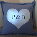 Personalised pillows for the perfect wedding or engagement gift. Lots of designs