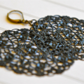 Black Earrings Classic Black Filigree Jewellery Gifts Under 20