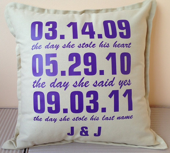 Personalised 'special Date' Pillow For The Perfect Wedding