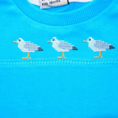 Seagulls Aqua T-shirt  Size 1